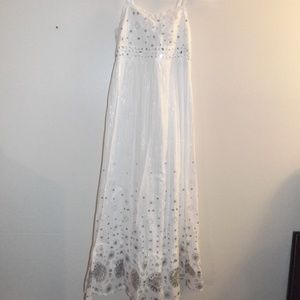 Justice White Maxi Dress 8